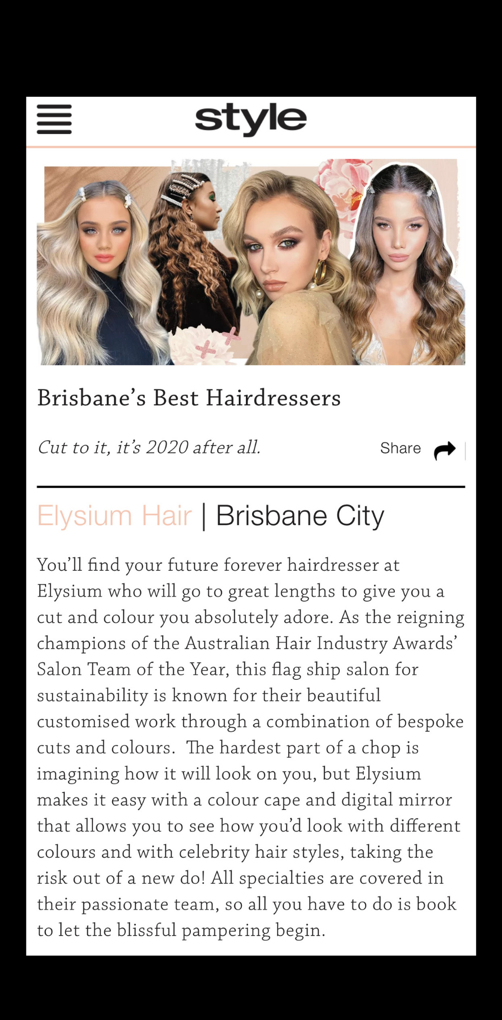 best blow-dry brisbane